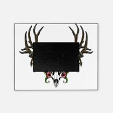 Trophy buck in hibiscuses flowers Picture Frame