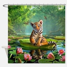JL_Tiger Lily Shower Curtain