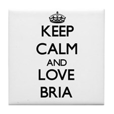 Keep Calm and Love Bria Tile Coaster