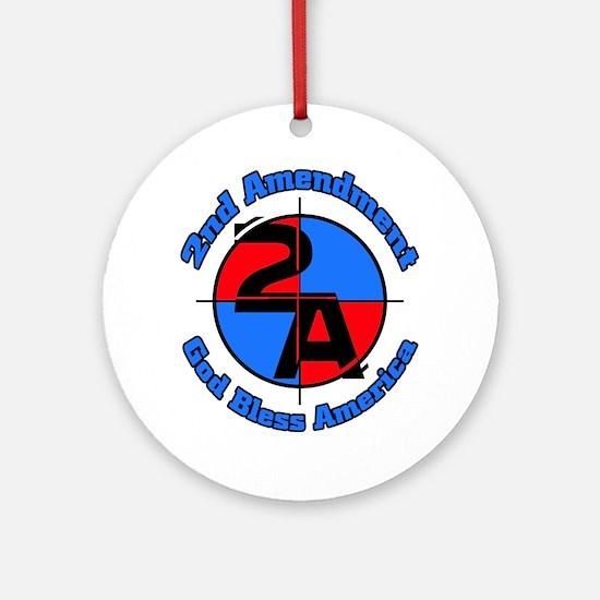 The 2nd Amendment Round Ornament