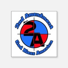 "The 2nd Amendment Square Sticker 3"" x 3"""