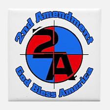 The 2nd Amendment Tile Coaster