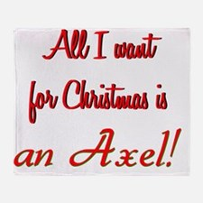 christmasaxel Throw Blanket