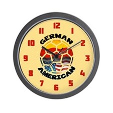 German American Football Soccer Wall Clock
