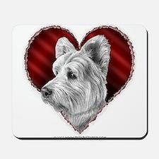 Westie Valentine Mousepad