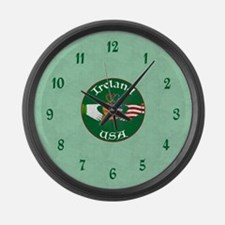 Ireland USA Connection Claddagh Large Wall Clock