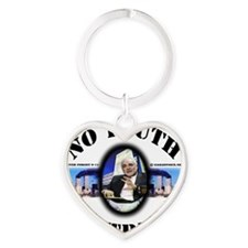 3-no truth no trust shirt dsn Heart Keychain