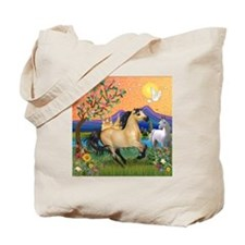 Fantasy Land Buckskin Horse Tote Bag
