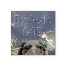 "DyslexicDog Square Sticker 3"" x 3"""