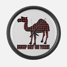 Camel humor 5 Large Wall Clock