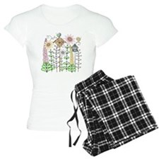 Cottage Garden Birds and Fl Pajamas
