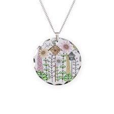 Cottage Garden Birds and Flo Necklace