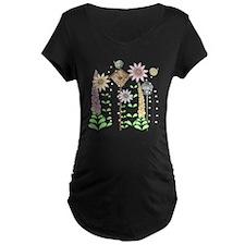 Cottage Garden Birds and Fl T-Shirt