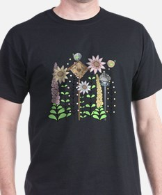 Cottage Garden Birds and Flowers T-Shirt