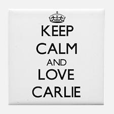 Keep Calm and Love Carlie Tile Coaster