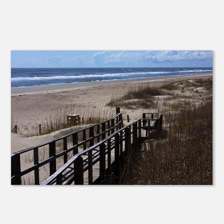 North Carolina Beach Walk Postcards (Package of 8)