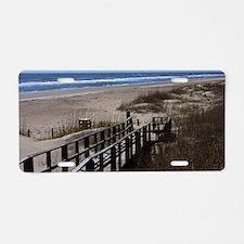 North Carolina Beach Walkwa Aluminum License Plate