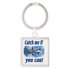 catch me if you can Square Keychain