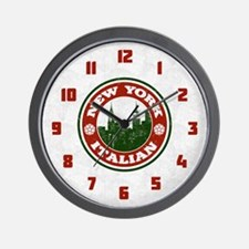 New York Italian American Wall Clock