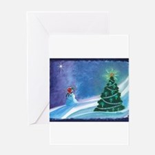 Worship Snowman Greeting Cards