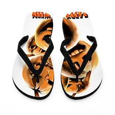 Mean Ugly PumpkinsTrans Flip Flops