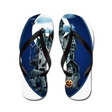Haunted House Oval Trans Flip Flops
