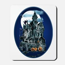 Haunted House Oval Trans Mousepad