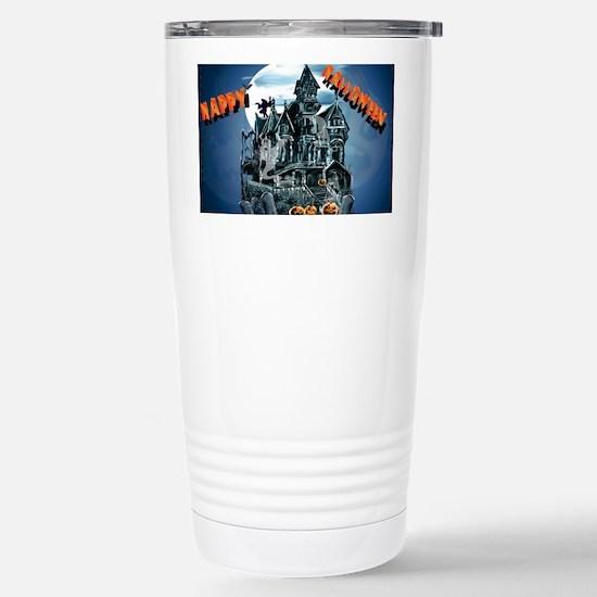 Haunted HouseYardsign Stainless Steel Travel Mug