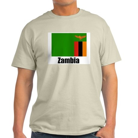 Zambia Ash Grey T-Shirt