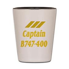 captain b747 2 Shot Glass