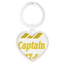 captain b747 2 Heart Keychain