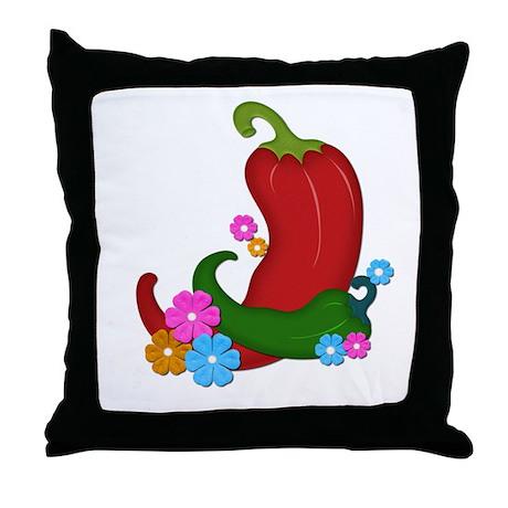 Chili U[p Throw Pillow