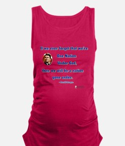 reagan nation under god.png Maternity Tank Top