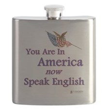you are in america speak english.png Flask