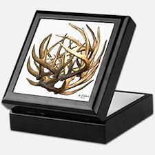 Whitetail Buck Deer Antler Art Cluste Keepsake Box