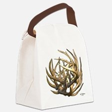 Whitetail Buck Deer Antler Art Cl Canvas Lunch Bag