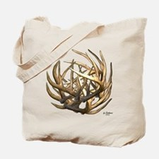 Whitetail Buck Deer Antler Art Cluster Tote Bag