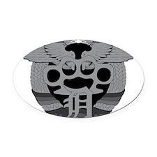 FightCity Oval Car Magnet