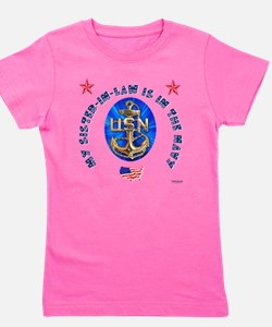 navy sister-in-law.png Girl's Tee