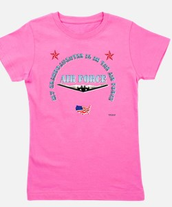 air force granddaughter.png Girl's Tee