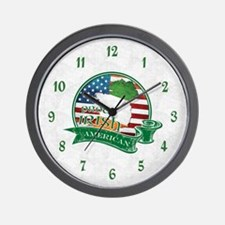 Proud Irish American Wall Clock