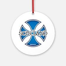 Scotland-Iron-Cross Round Ornament