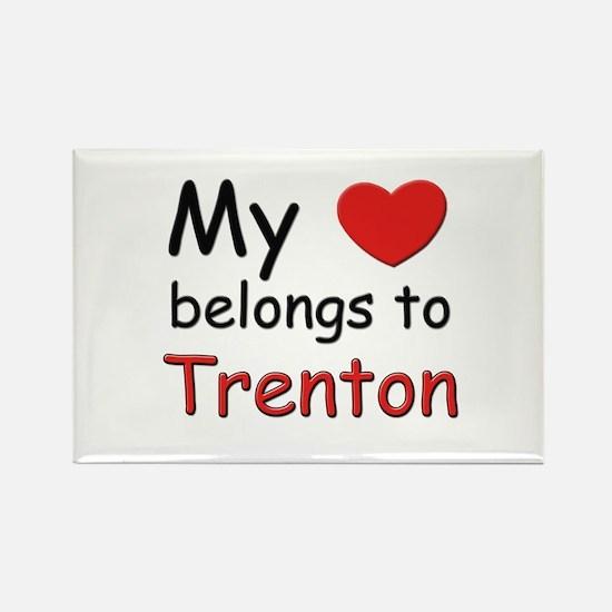 My heart belongs to trenton Rectangle Magnet