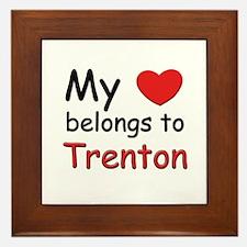 My heart belongs to trenton Framed Tile