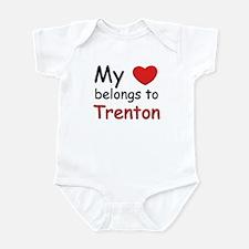 My heart belongs to trenton Infant Bodysuit