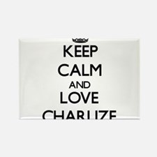 Keep Calm and Love Charlize Magnets