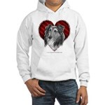 Sheltie Heart Hooded Sweatshirt