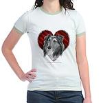 Sheltie Heart Jr. Ringer T-Shirt