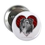 Sheltie Heart Button