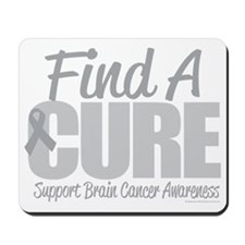 Brain-Cancer-Find-A-Cure-blk Mousepad